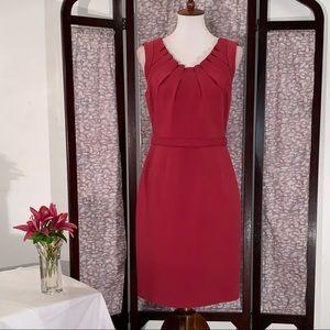 Elie Tahari pinkish red sleeveless dress.